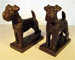 Fox Terrier Bookends