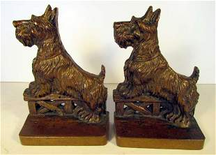 Scottie Dogs on Fence Bookends