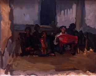 Isaac Israels (1865-1934) Gamelan Orchestra Oil