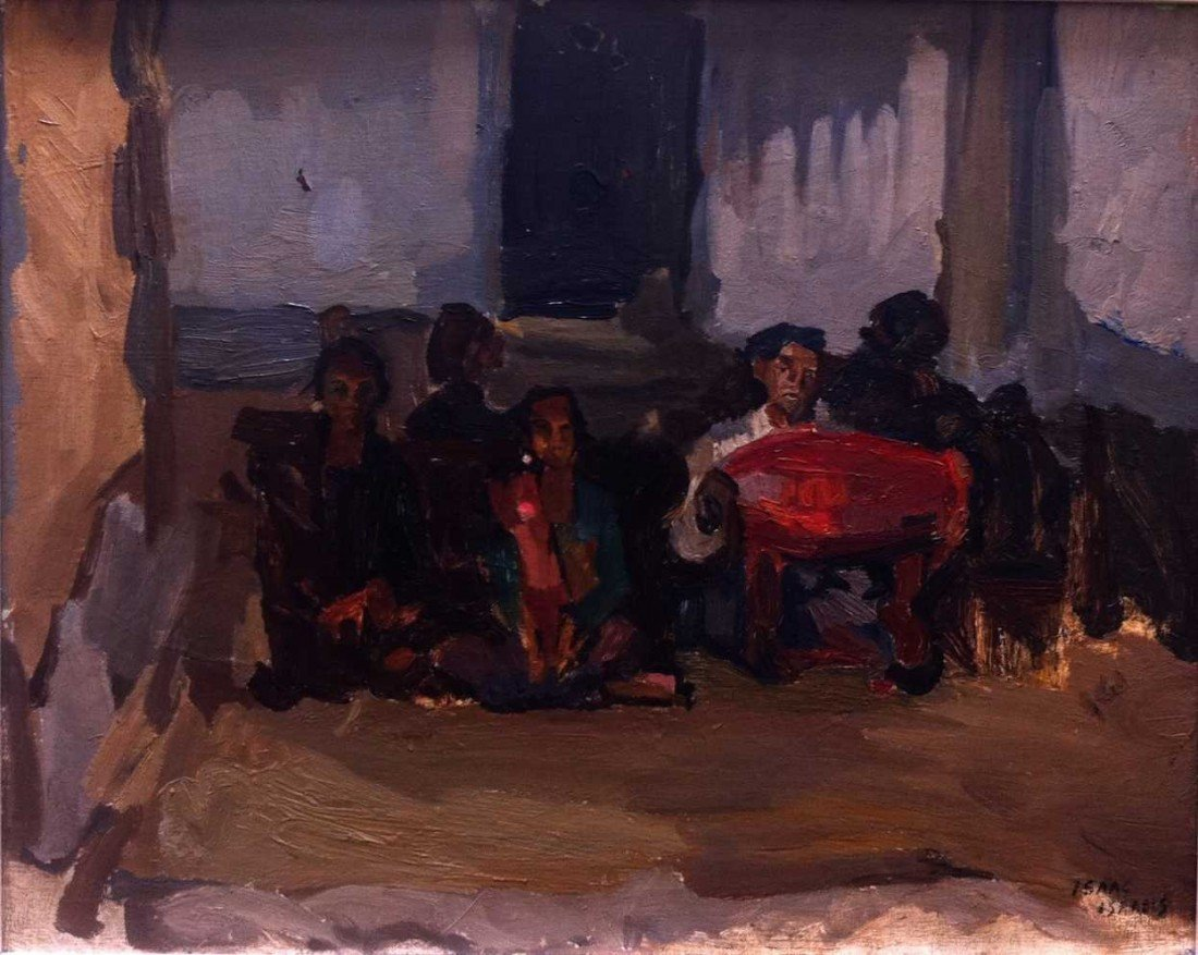 1: Isaac Israels (1865-1934) Gamelan Orchestra Oil