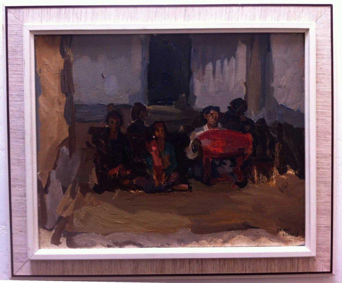 1: Isaac Israels (1865-1934) Gamelan Orchestra Oil - 2