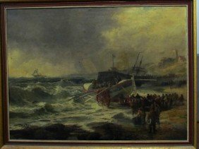 8: Robert Ernest Roe (1820-1920) Ships at Rescue Oil