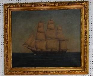 19th Century Painting of American Vessel