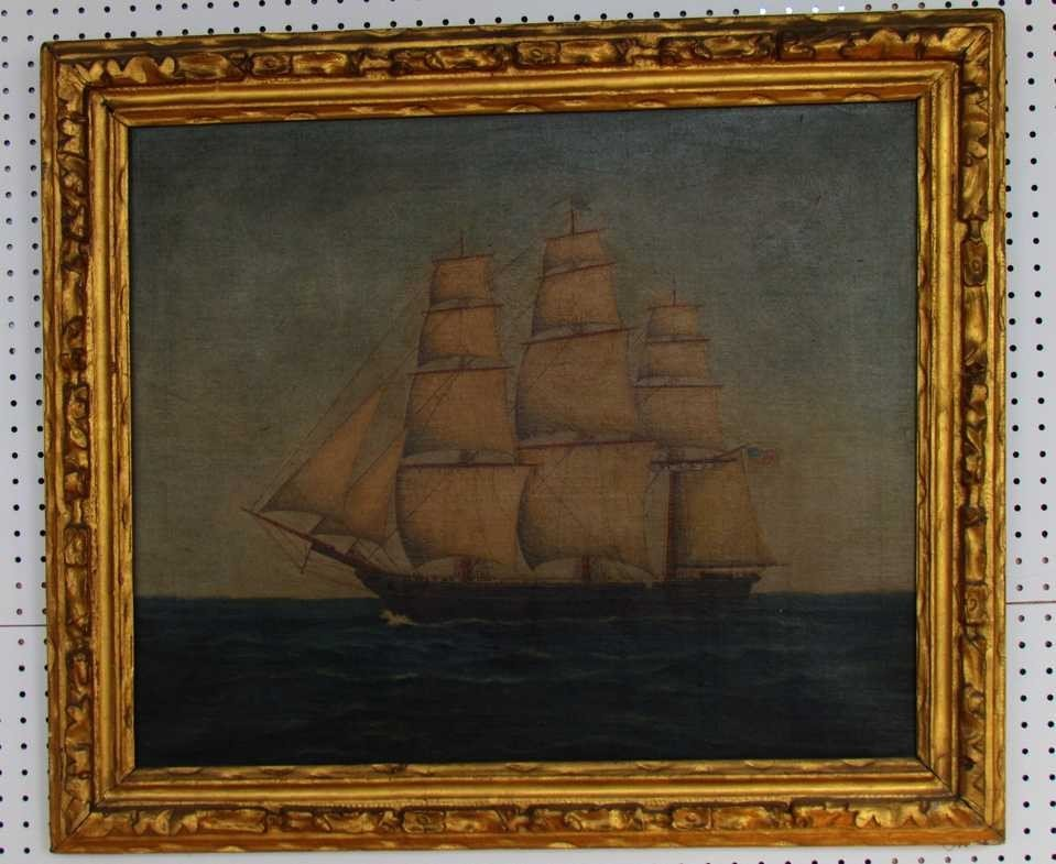 10: 19th Century Painting of American Vessel