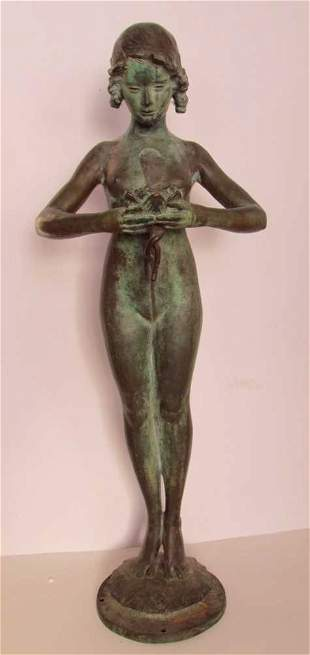 Mabel Conkling (1871-1966) Bronze Fountain Figure