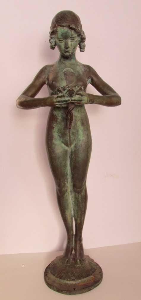 12: Mabel Conkling (1871-1966) Bronze Fountain Figure