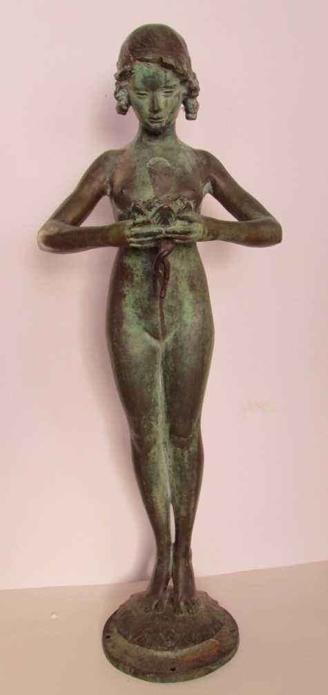 12: Mabel Conkling (1871-1966) Bronze Fountain Figure
