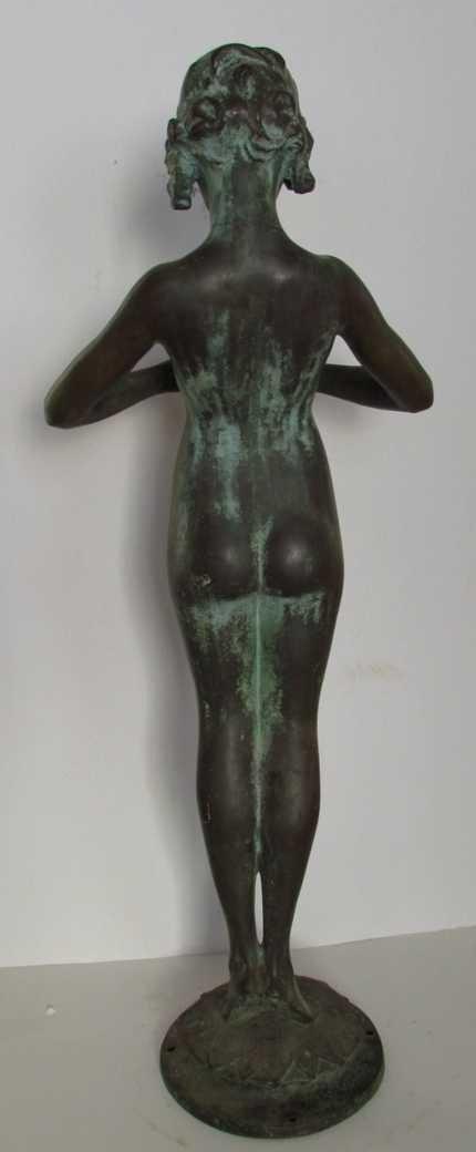 12: Mabel Conkling (1871-1966) Bronze Fountain Figure - 2