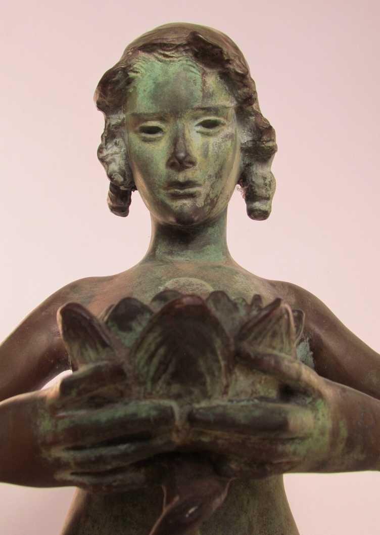 12: Mabel Conkling (1871-1966) Bronze Fountain Figure - 3