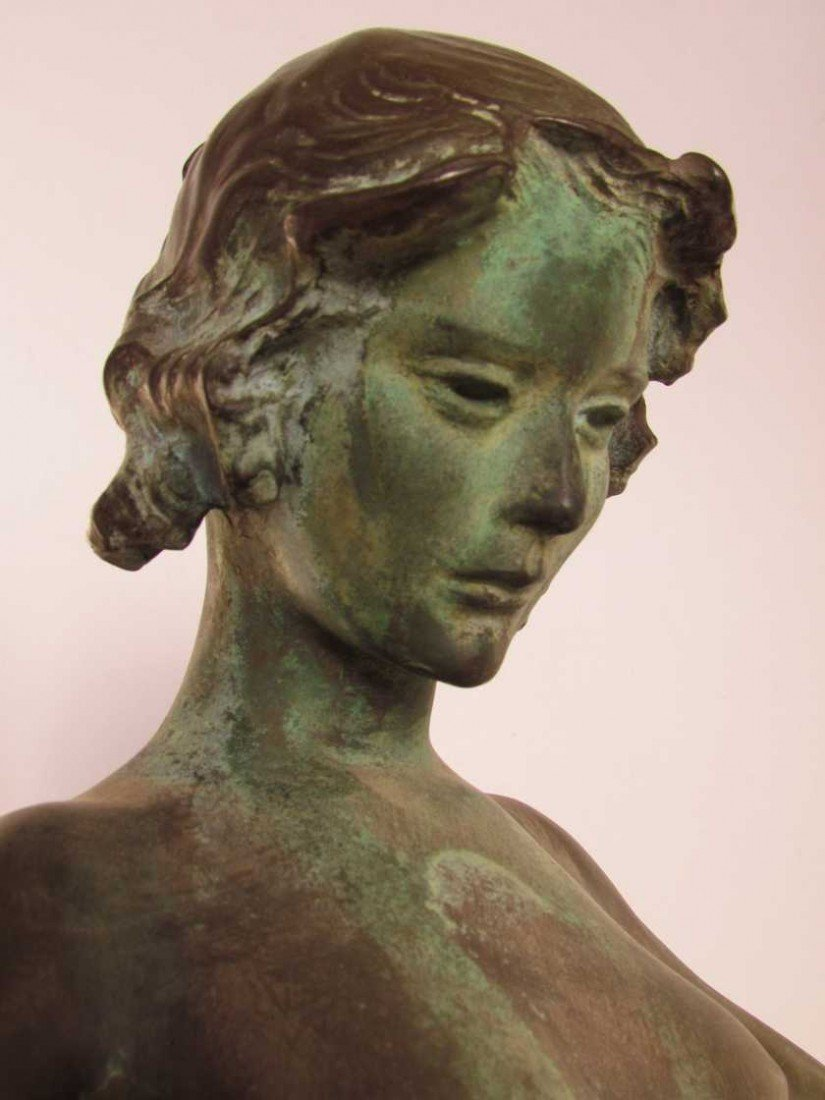 12: Mabel Conkling (1871-1966) Bronze Fountain Figure - 4