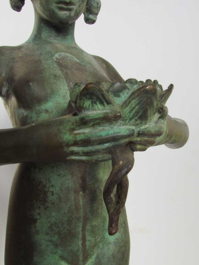 12: Mabel Conkling (1871-1966) Bronze Fountain Figure - 5