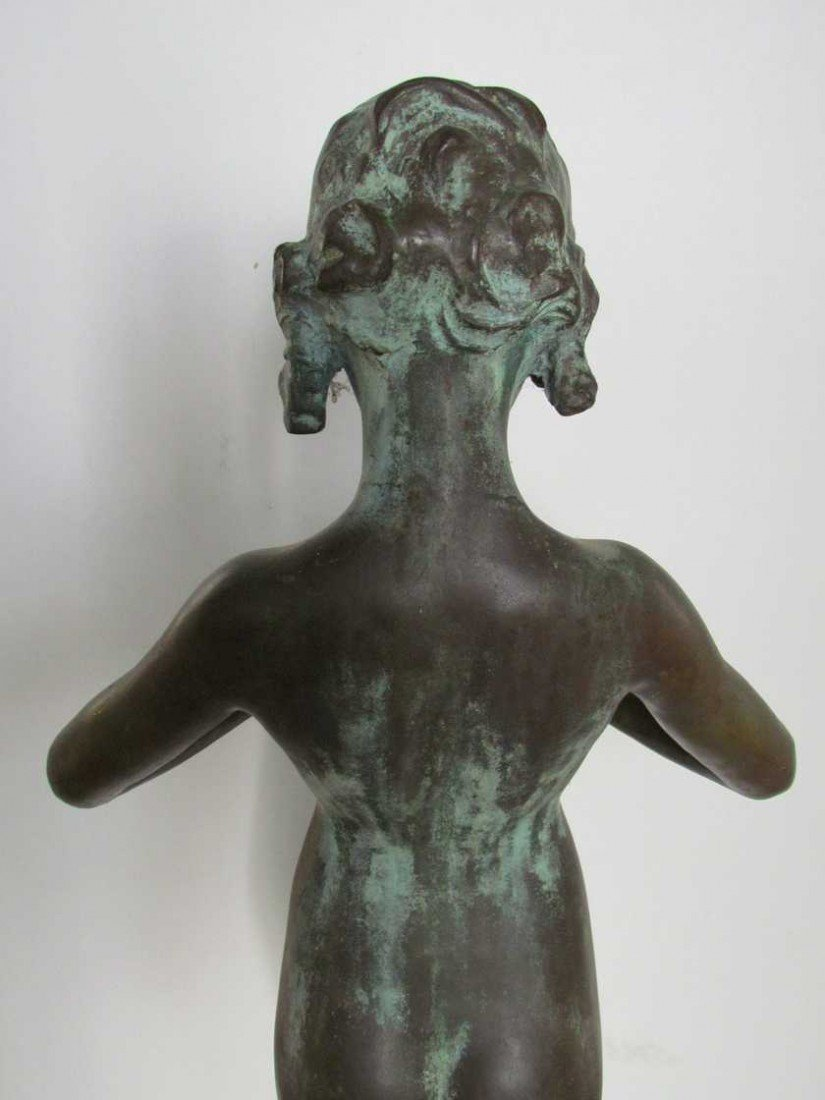 12: Mabel Conkling (1871-1966) Bronze Fountain Figure - 6
