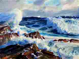 John Whorf (1903-1959) Rolling From the East Waterc