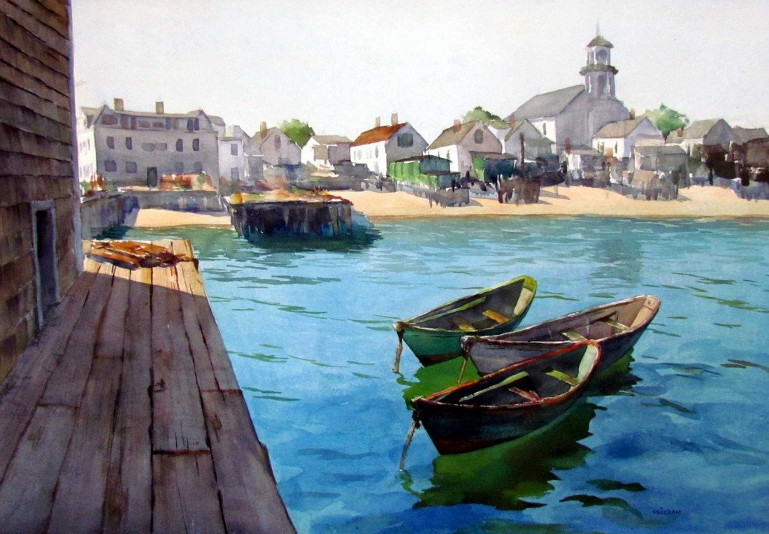 17: Reichard Waterfront Watercolor