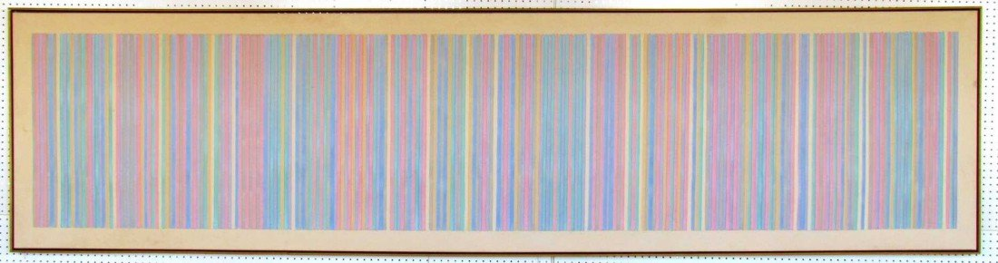 18: Gene B. Davis (1920-1985) Roman Candle Canvas