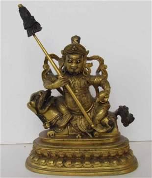 Buddhist Prosperity Bronze Statue