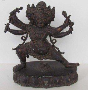 23: Buddhist Deity Bronze Statue