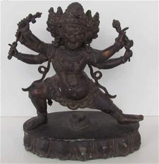 Buddhist Deity Bronze Statue