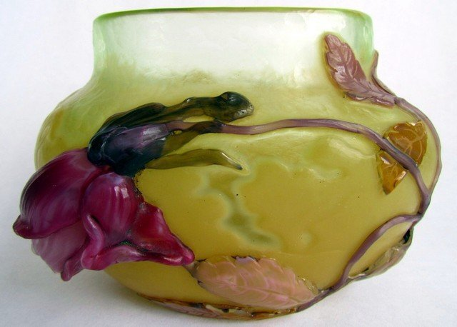 1: Émile Gallé Rose De France Vase
