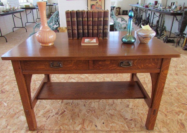 9A: L. & J.G. Stickley Library Table