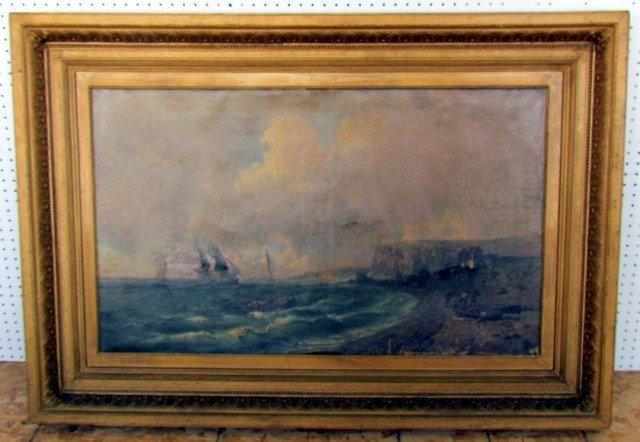 10: Tony Francis De Bergue (1820-1893) Oil on Canvas