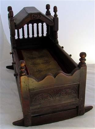 1673 Pilgrim Century Cradle in Oak