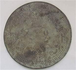 Early 18th Century Pierced Plate A. Hamilton