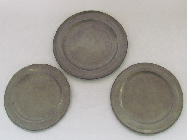 16: Group Three Early English Pewter Plates