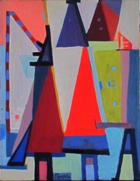 Peter Busa (1914-1985) Oil On Canvas