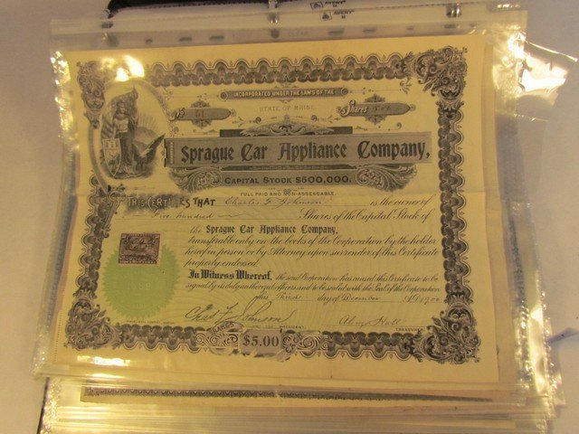 119: Group Stock Certificates