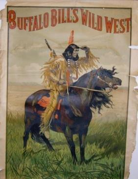 2: Rare Buffalo Bill's Wild West Lithograph Poster