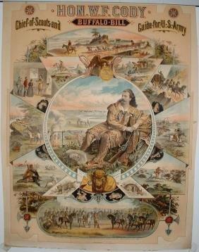 3: Hon. W. F. Cody Buffalo Bill Lithograph Poster