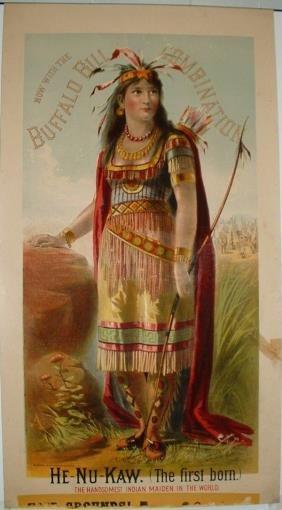 9: Rare Buffalo Bill Combination Lithograph Poster