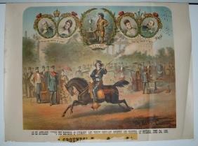 12: Rare Dr. W.F. Carver Lithograph Poster