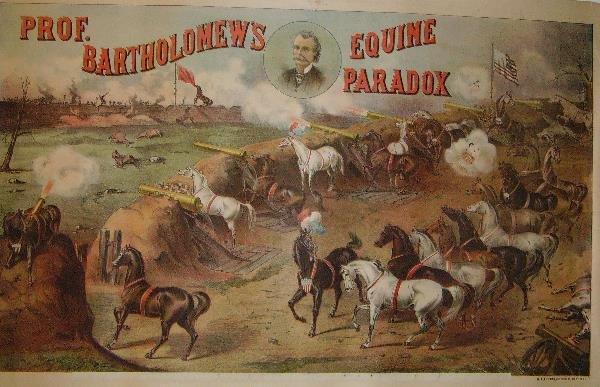 14: Prof. Bartholomew's Equine Paradox Lithograph Poste
