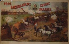 Two Lithograph Posters Bartholomew's Equine Paradox