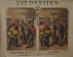 """18: Very Rare The Danites"""" Lithograph Poster"""""""
