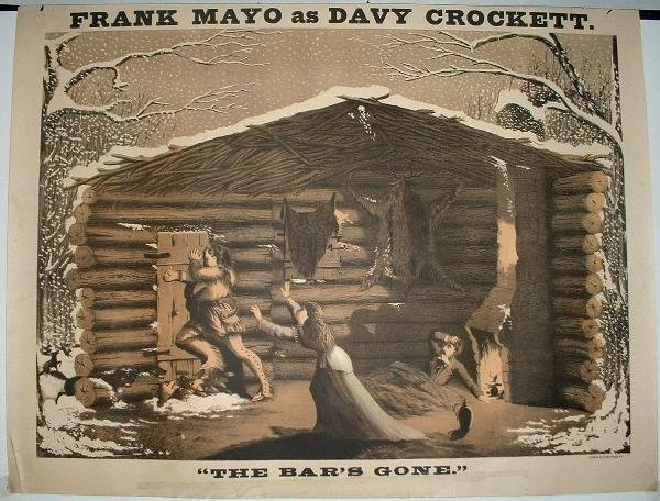 19: Frank Mayo as Davy Crockett Lithograph Poster