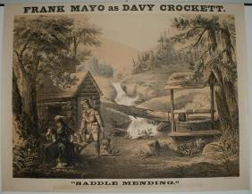 20: Frank Mayo as Davy Crockett Lithograph Poster