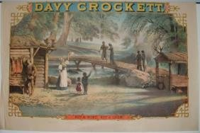 21: Two Davy Crockett Lithograph Posters