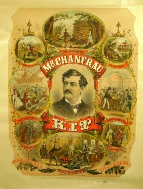23: Two Mr. Chanfrau Kit Lithograph Posters