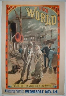 36: 2 Lithograph Posters The World
