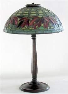 1: Tiffany Studios Poinsettia Lamp