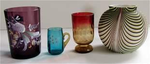 2: Four Art Glass Items