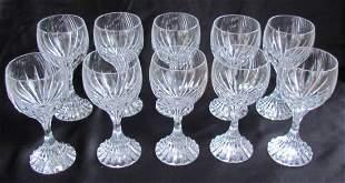 13: Ten Baccarat Wine Glasses