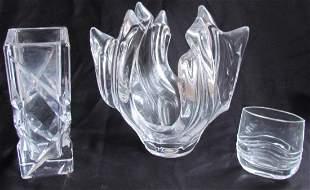 14: Three Fench Art Glass Vases