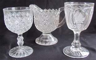 16: Large Lot Antique Pressed Glassware