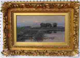 21: J.N. Barlow (1861-1917) Moonrise Oil on Canvas