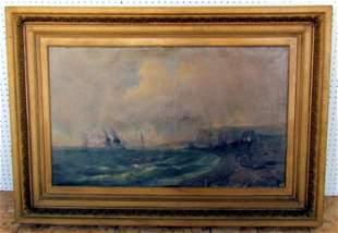 22: Tony Francis De Bergue (1820-1893) Oil on Canvas