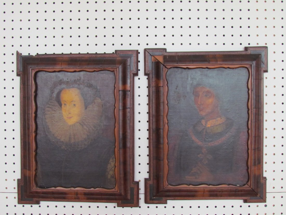 23: Pair Early English Portraits